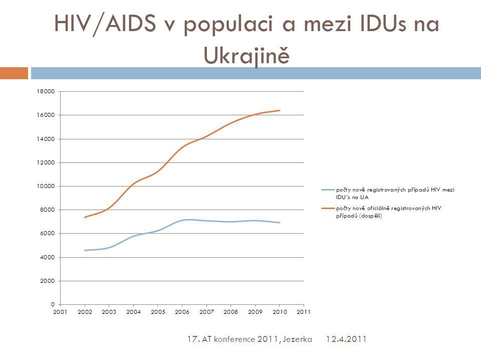 HIV/AIDS v populaci a mezi IDUs na Ukrajině 12.4.2011 17. AT konference 2011, Jezerka