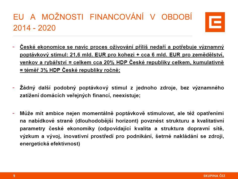 DOHODA O PARTNERSTVÍ A PROSTŘEDÍ, VE KTERÉM VZNIKÁ: ČESKÁ REPUBLIKA A JEJÍ ZKUŠENOSTI Z OBDOBÍ 2007 - 2013 - Čistá pozice; významný rozvojový kontributor české ekonomice – v roce 2012: 73,8 mld.