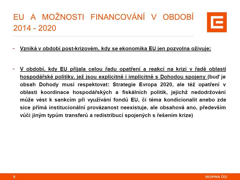 EU A MOŽNOSTI FINANCOVÁNÍ V OBDOBÍ 2014 - 2020 - České ekonomice se navíc proces oživování příliš nedaří a potřebuje významný poptávkový stimul: 21,6 mld.