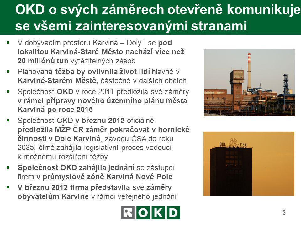 Společnost OKD musí dosáhnout dohody se všemi majiteli domů a pozemků  Případné těžbě musí předcházet zpracování dokumentace k posouzení vlivů hornické činnosti na životní prostředí (tzv.