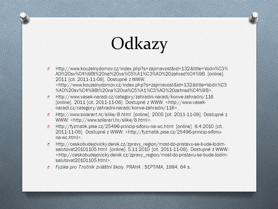 Odkazy O Http://www.kouzelnydomov.cz/index.php?s=zajimavost&id=132&title=Vodn%C3% AD%20sv%C4%9Bt%20na%20va%C5%A1%C3%AD%20zahrad%C4%9B [online]. 2011 [