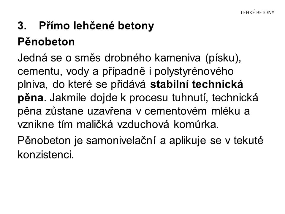 LEHKÉ BETONY 3.