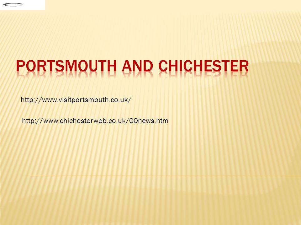 Jižní pobřeží Anglie – významný přístav, 190000 obyvatel Historie : - založeno 1180 - důležitý přístav - napadáno Francouzi – 1418 Round Tower - 1944 výchozí místo invaze Významné město s bohatou kulturou i zábavou Většina pamětihodností města souvisí s jeho námořní historií -turisticky atraktivní staré loděnice(loď HMS Victory, zbytky vlajkové lodi Jindřicha VIII.