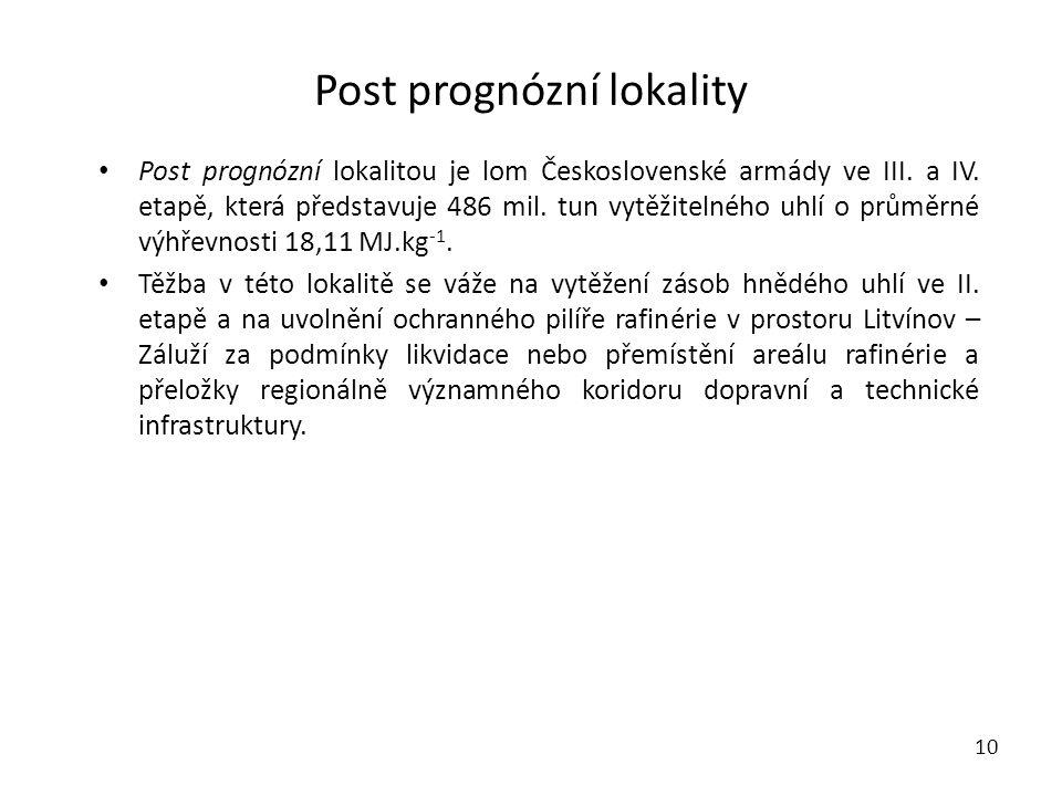 Post prognózní lokality 10 • Post prognózní lokalitou je lom Československé armády ve III.