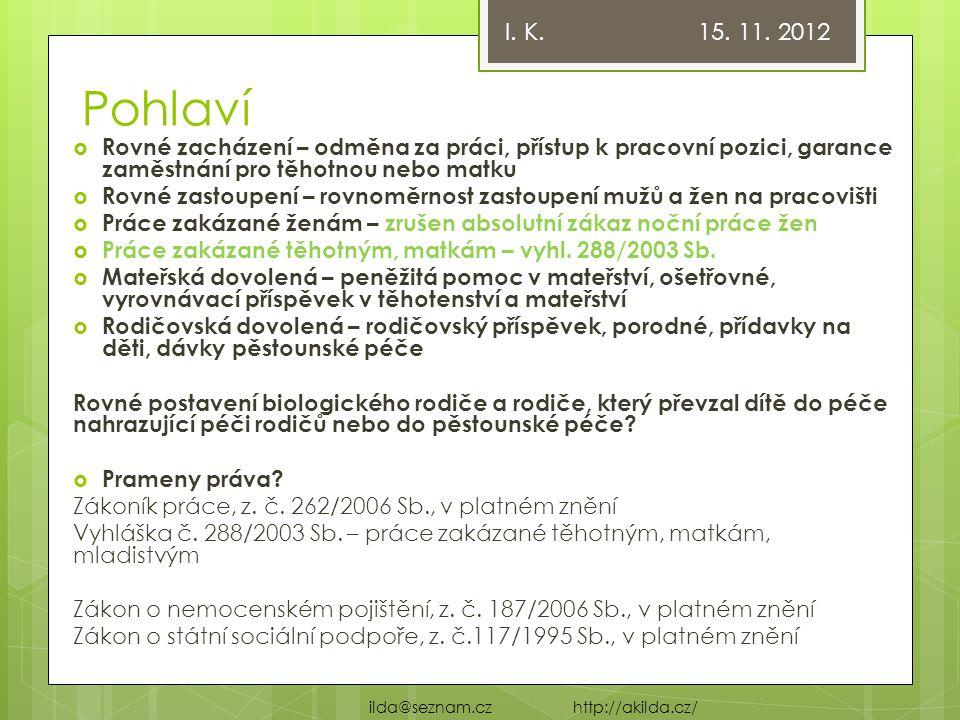 Odborný a výukový web: http://www.akilda.cz/ http://www.akilda.cz/ I. K. 15. 11. 2012