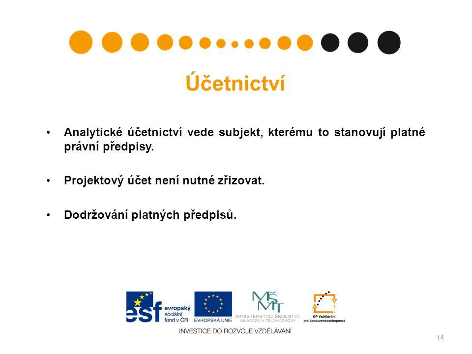Účetnictví •Analytické účetnictví vede subjekt, kterému to stanovují platné právní předpisy.