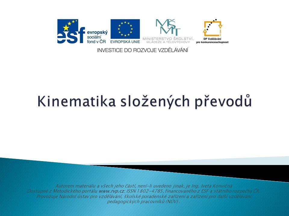 Autorem materiálu a všech jeho částí, není-li uvedeno jinak, je Ing. Iveta Konvičná Dostupné z Metodického portálu www.rvp.cz; ISSN 1802-4785, financo