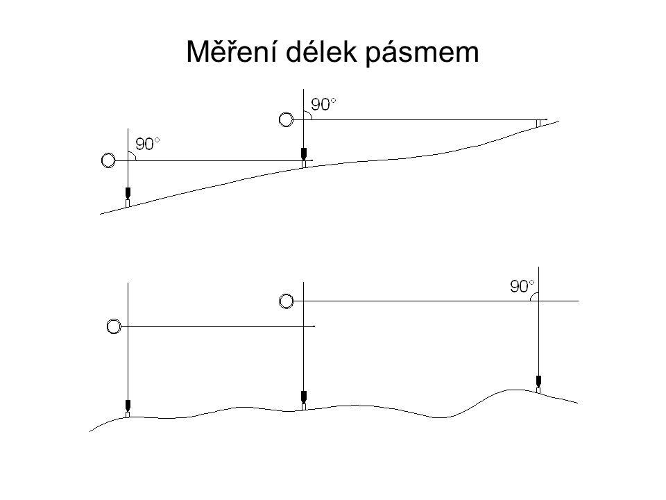 Přímo měřené délky (po fyzikální redukci) je nutno redukovat do tzv.