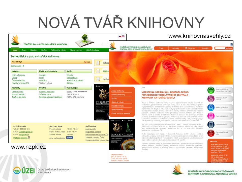 NOVÁ TVÁŘ KNIHOVNY www.nzpk.cz www.knihovnasvehly.cz