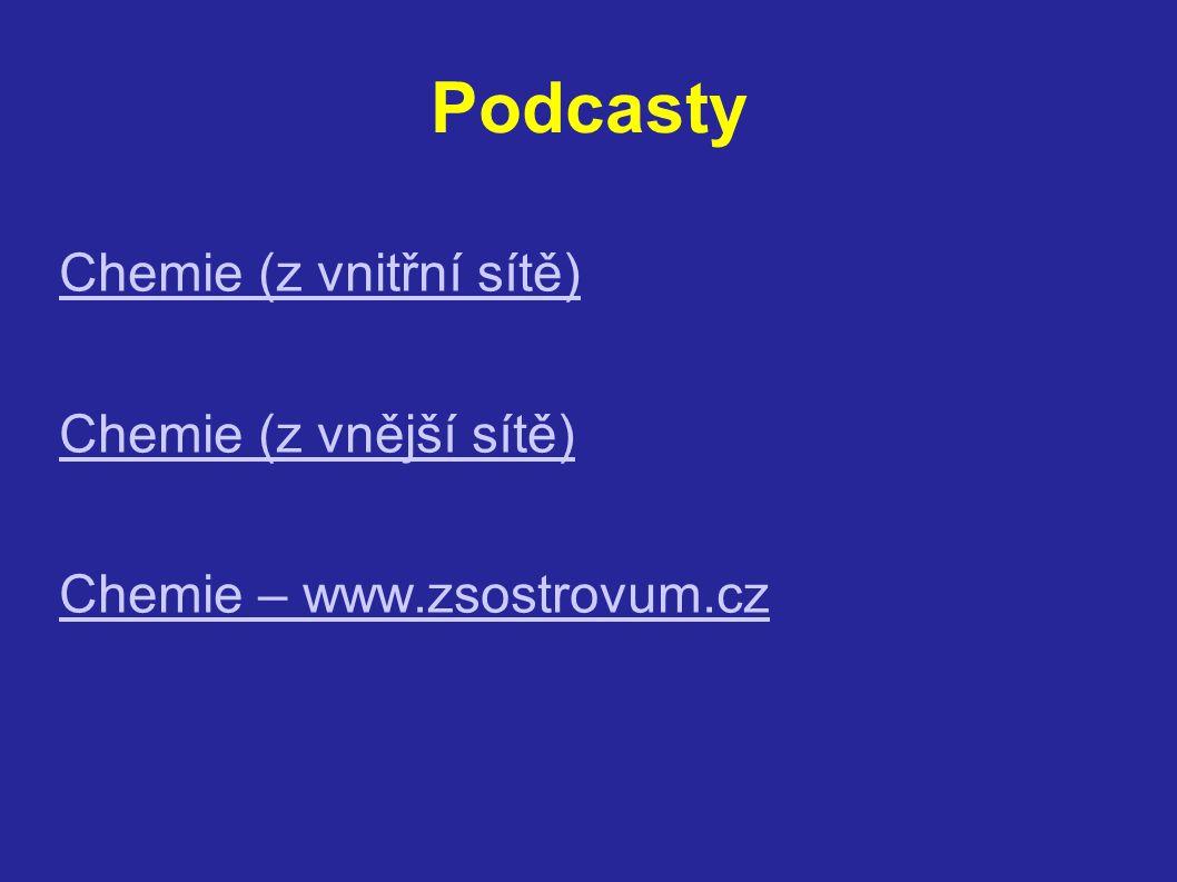 Podcasty Chemie (z vnitřní sítě) Chemie (z vnější sítě) Chemie – www.zsostrovum.cz