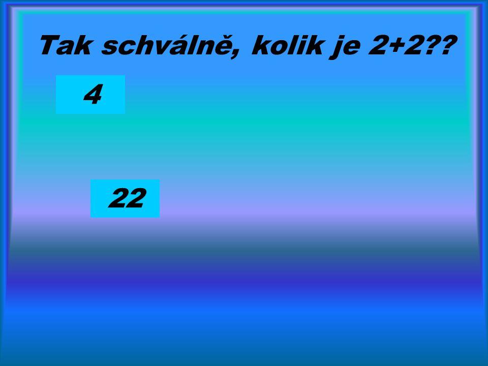 Tak schválně, kolik je 2+2?? 4 22