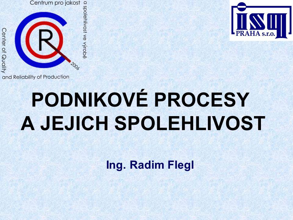 PODNIKOVÉ PROCESY A JEJICH SPOLEHLIVOST Ing. Radim Flegl
