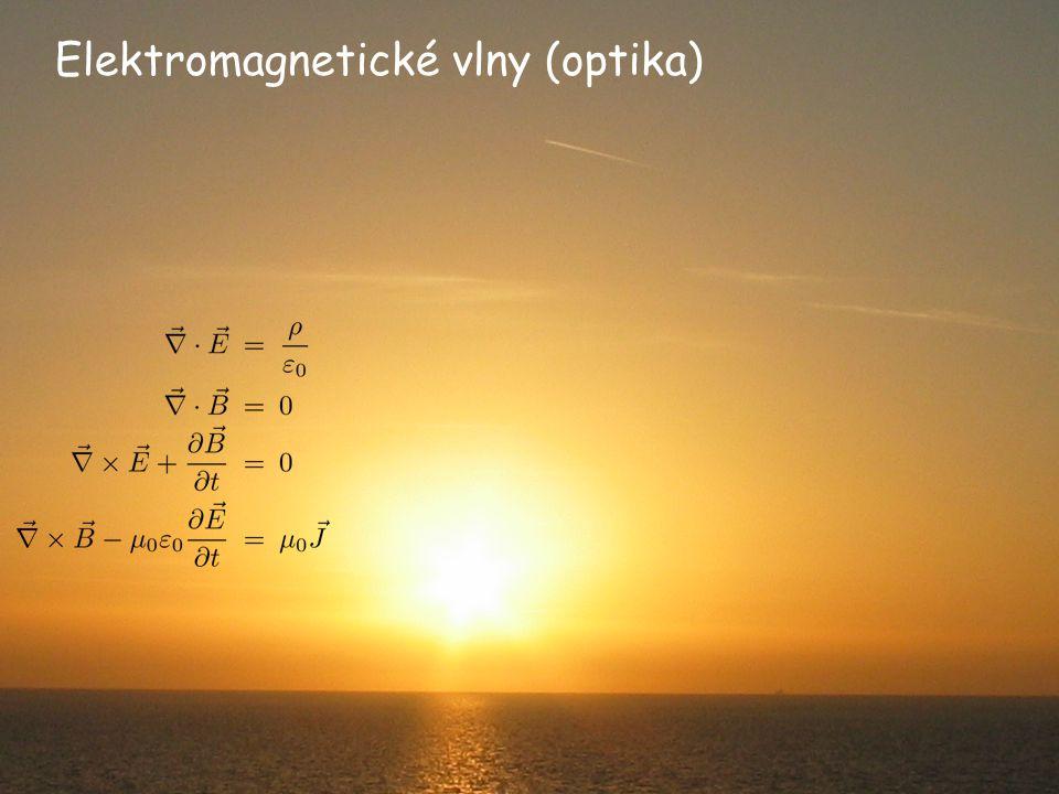 Hustota energie (monochromatická rovinná vlna) z y x Shrnutí předchozích výsledků: (okamžitá hodnota, musíme dosadit reálné E a B!)