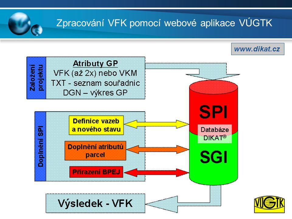 Zpracování VFK pomocí webové aplikace VÚGTK www.dikat.cz