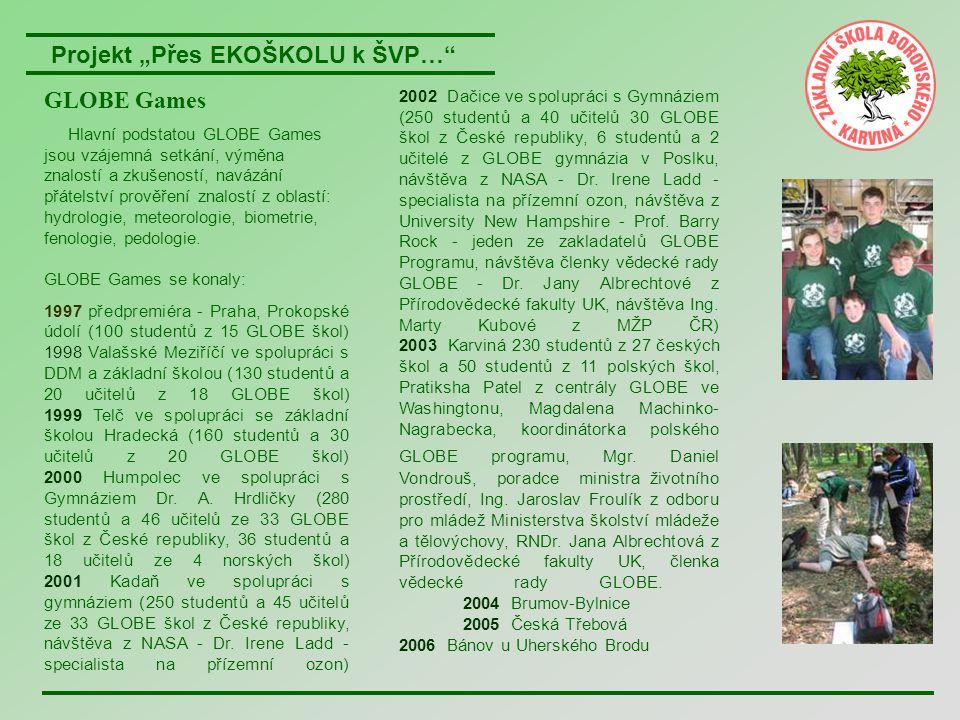 """Projekt """"Přes EKOŠKOLU k ŠVP… Aktivity v rámci Týdne Země Žáci naší školy se v týdnu od 17."""