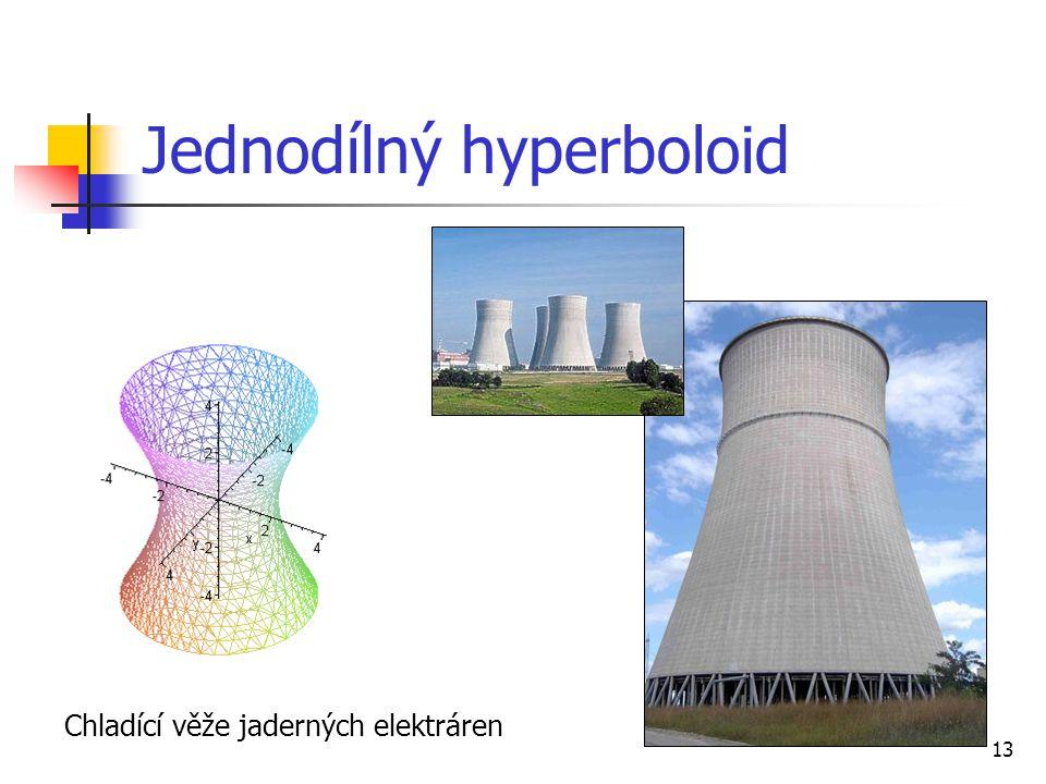 13 Jednodílný hyperboloid Chladící věže jaderných elektráren