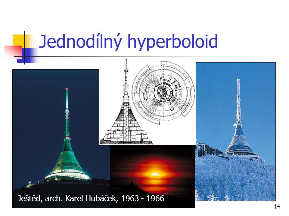 14 Jednodílný hyperboloid Ještěd, arch. Karel Hubáček, 1963 - 1966