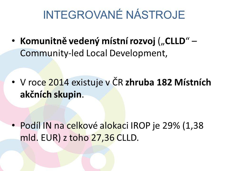 """• Komunitně vedený místní rozvoj (""""CLLD"""" – Community-led Local Development, • V roce 2014 existuje v ČR zhruba 182 Místních akčních skupin. • Podíl IN"""