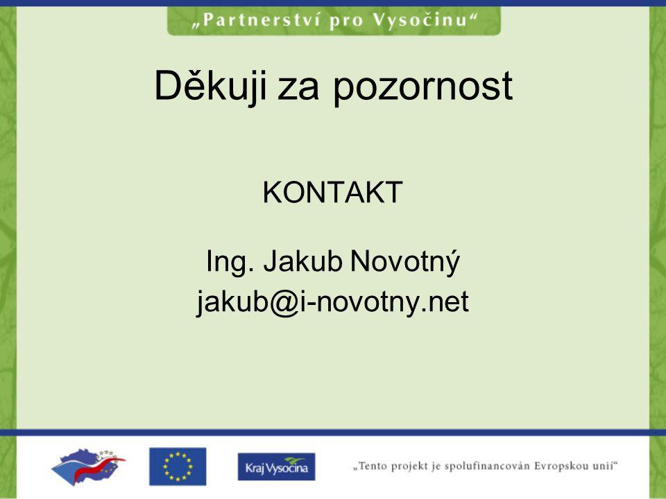 Děkuji za pozornost KONTAKT Ing. Jakub Novotný jakub@i-novotny.net