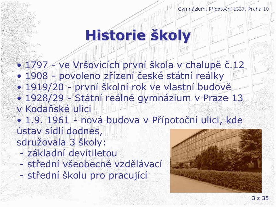 14 z 35 Kurzy a výjezdy Gymnázium, Přípotoční 1337, Praha 10 1.