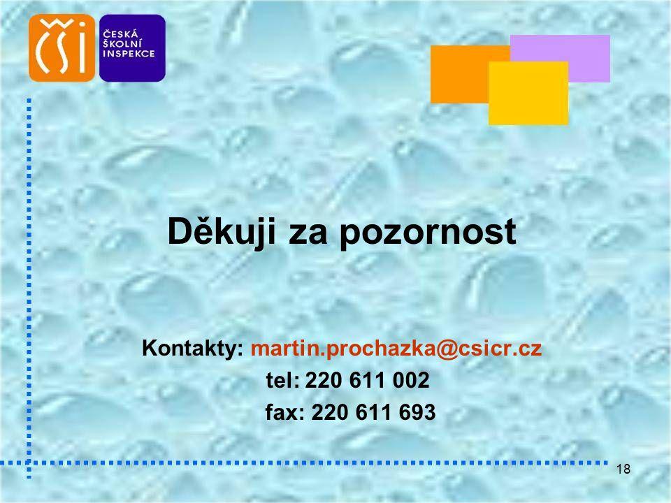 18 Děkuji za pozornost Kontakty: martin.prochazka@csicr.cz tel: 220 611 002 fax: 220 611 693