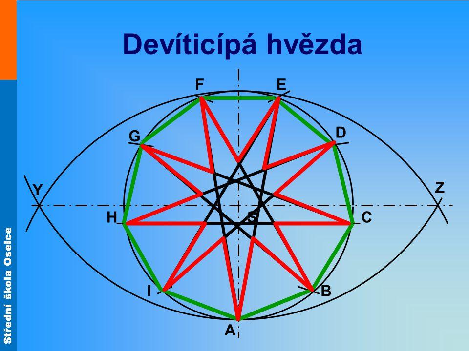 Střední škola Oselce Devítiúhelník S Z Y A B C D EF G H I