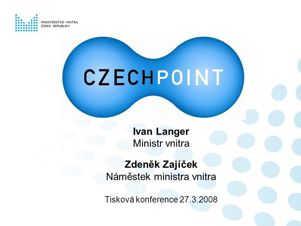 Ivan Langer Ministr vnitra Zdeněk Zajíček Náměstek ministra vnitra Tisková konference 27.3.2008