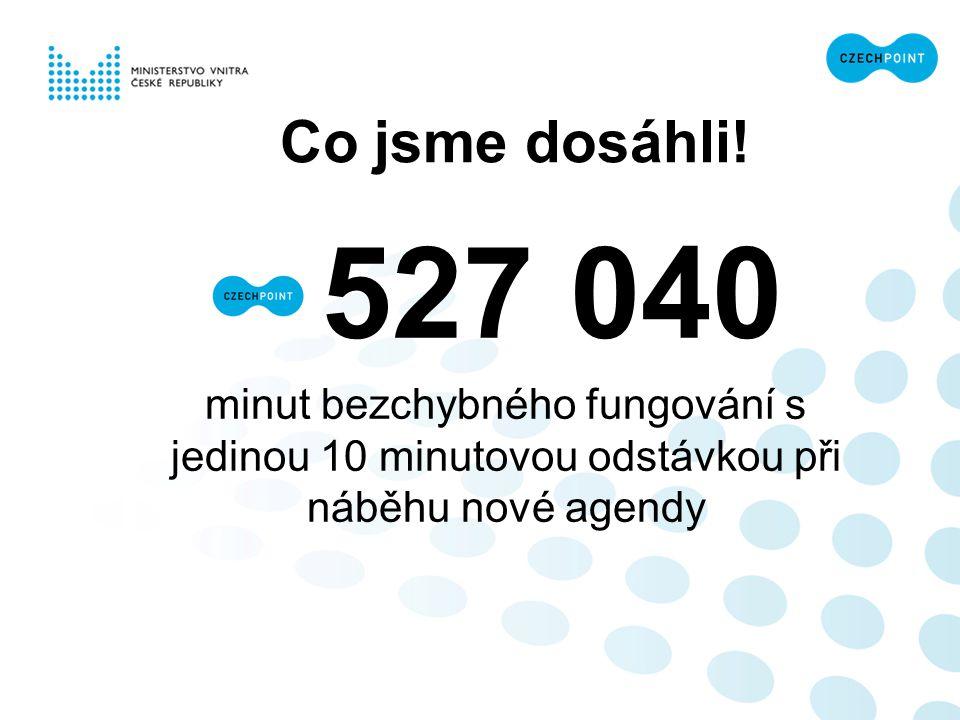 Co jsme dosáhli! 527 040 minut bezchybného fungování s jedinou 10 minutovou odstávkou při náběhu nové agendy