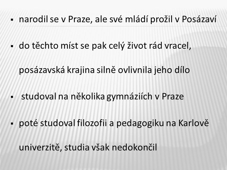  od roku 1934 pracoval František Hrubín jako knihovník v Městské knihovně v Praze  od roku 1946 se stal spisovatelem z povolání  další inspirace pro svá díla čerpal z pražské čtvrti Holešovice, kde bydlel od roku 1945 a jihočeské krajiny kolem Chlumu u Třeboně, kde pobýval od roku 1950 5