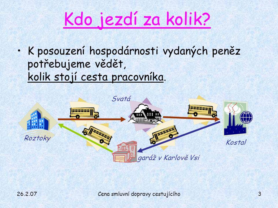 26.2.07Cena smluvní dopravy cestujícího3 Kdo jezdí za kolik.