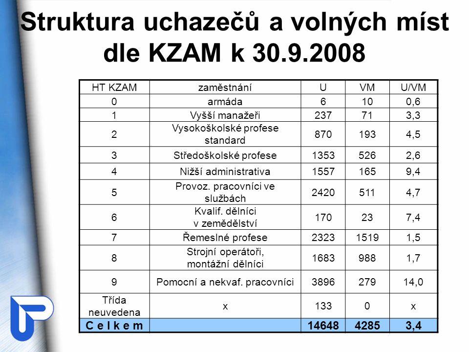 Závěry z předchozí tabulky •Velmi nízká relativní poptávka je ve hlavních třídách 4 (nižší administrativa) a 9 (pomocní pracovníci).