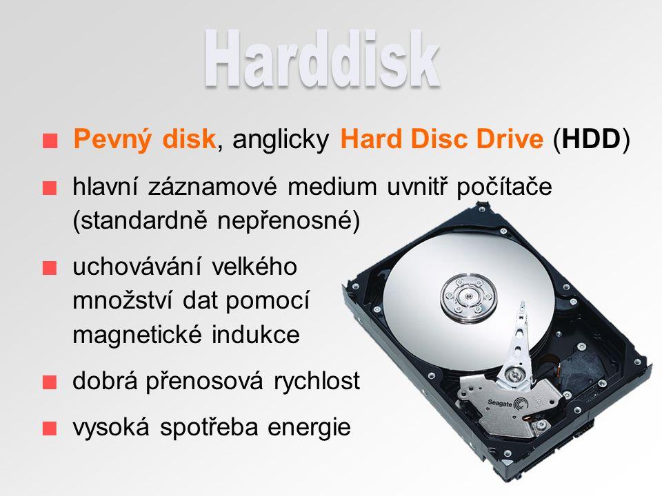 floppy disk magnetické medium dříve populární nízká výrobní cena malá životnost pomalost kapacita pouhých 1,44 MB