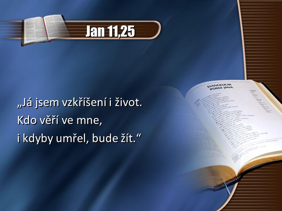 """Jan 11,25 """"Já jsem vzkříšení i život. Kdo věří ve mne, i kdyby umřel, bude žít."""" """"Já jsem vzkříšení i život. Kdo věří ve mne, i kdyby umřel, bude žít."""