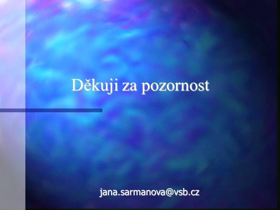 Děkuji za pozornost jana.sarmanova@vsb.cz