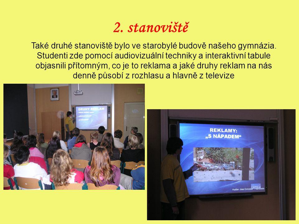 2.stanoviště Také druhé stanoviště bylo ve starobylé budově našeho gymnázia.