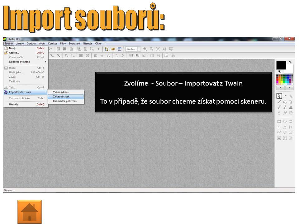 Zvolíme - Úpravy – Vložit jako nový obrázek To v případě, že soubor kopírujeme z webové stránky nebo z jiného grafického programu.