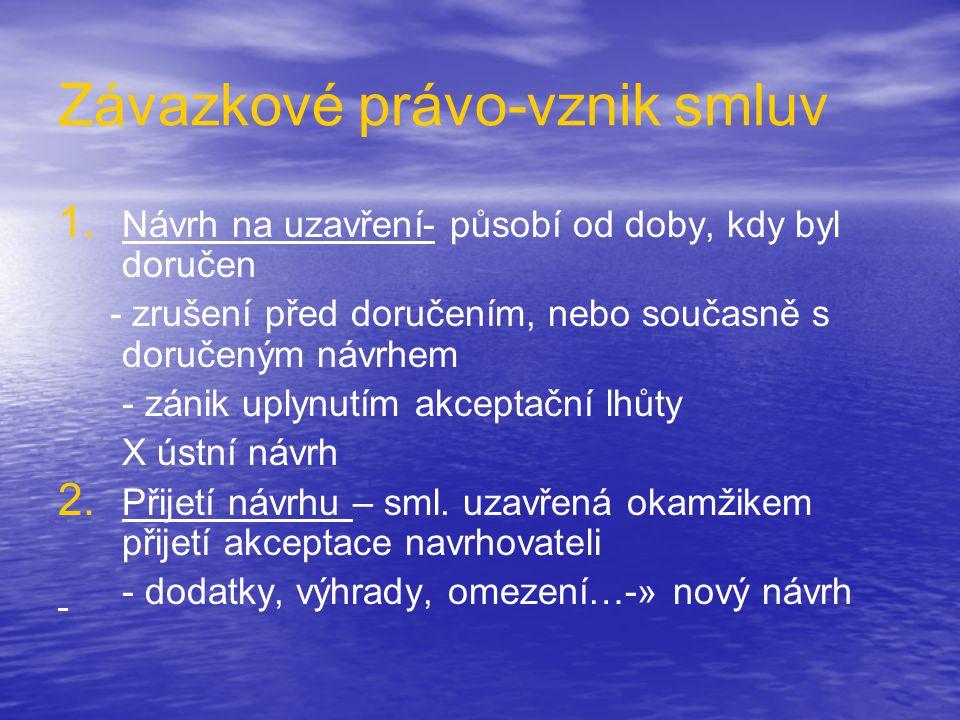 Závazkové právo-vznik smluv 1.1.