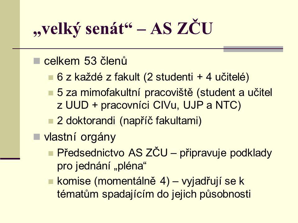 zastoupení FPE v AS ZČU Doc.Mgr. Václav Richtr, CSc.