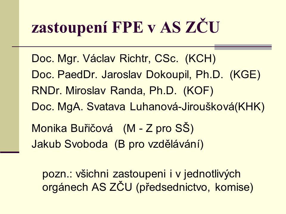 """""""náš malý senát – AS FPE složení """"učitelské části KGE Doc."""