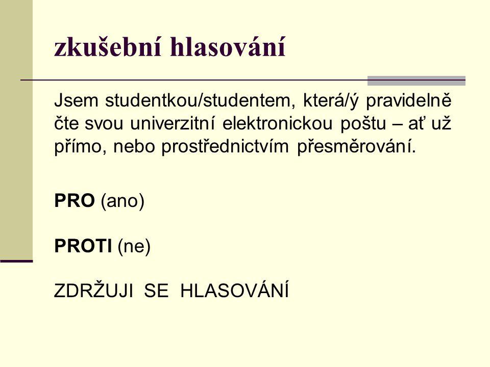 volby do AS FPE a AS ZČU 10.- 13.