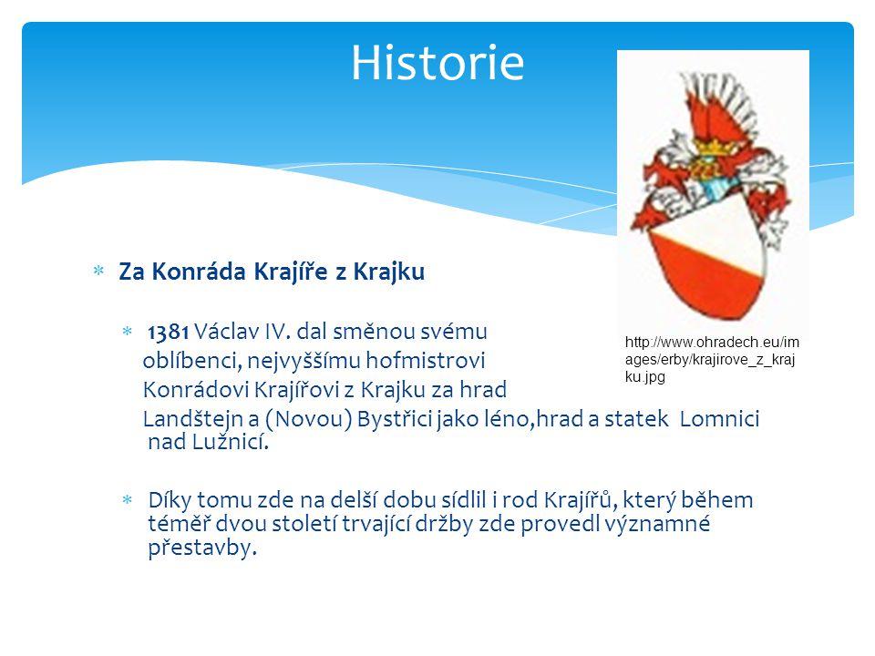  Za Konráda Krajíře z Krajku  1381 Václav IV.