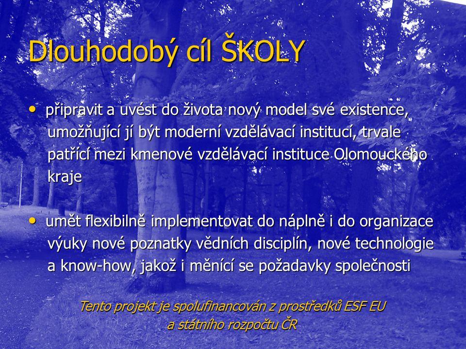 Střednědobý cíl ŠKOLY Střednědobý cíl ŠKOLY vytvořit nový školící program, umožňující zprostředkovat občanům především Olomouckého kraje poznatky o měnícím se postavení zemědělství a významu venkova po vstupu ČR do EU a přijetí její politiky, a po přistoupení ČR ke globálním úmluvám o udržitelném rozvoji.