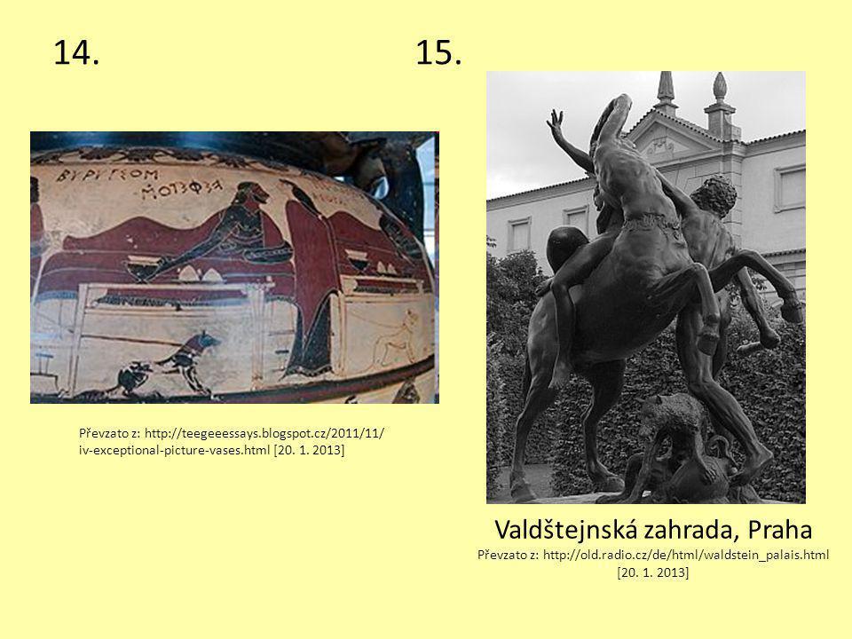 14.15. Valdštejnská zahrada, Praha Převzato z: http://old.radio.cz/de/html/waldstein_palais.html [20. 1. 2013] Převzato z: http://teegeeessays.blogspo