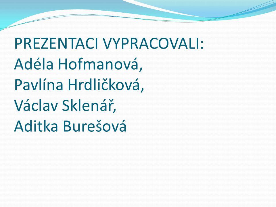 PREZENTACI VYPRACOVALI: Adéla Hofmanová, Pavlína Hrdličková, Václav Sklenář, Aditka Burešová