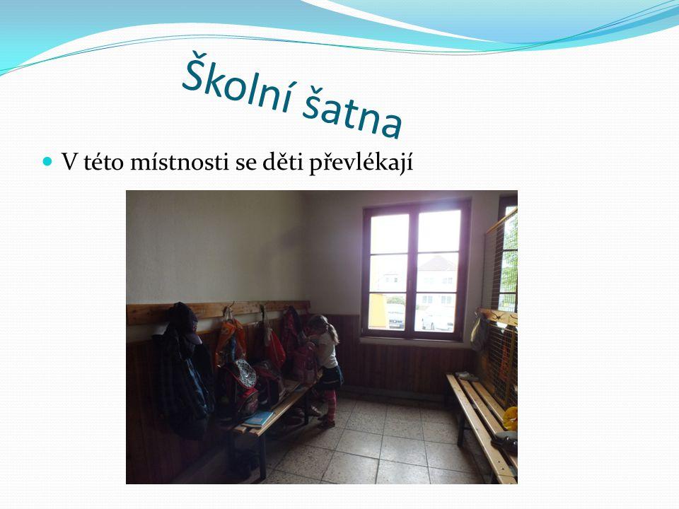 Školní šatna  V této místnosti se děti převlékají