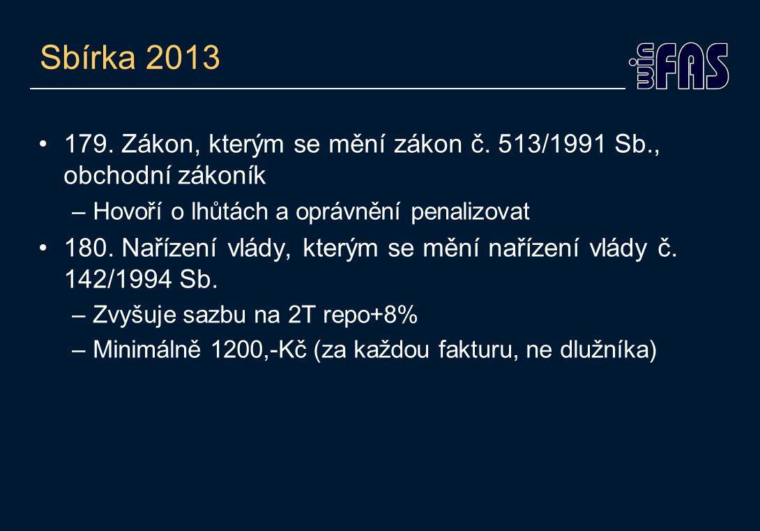 Sbírka 2013 •179. Zákon, kterým se mění zákon č.