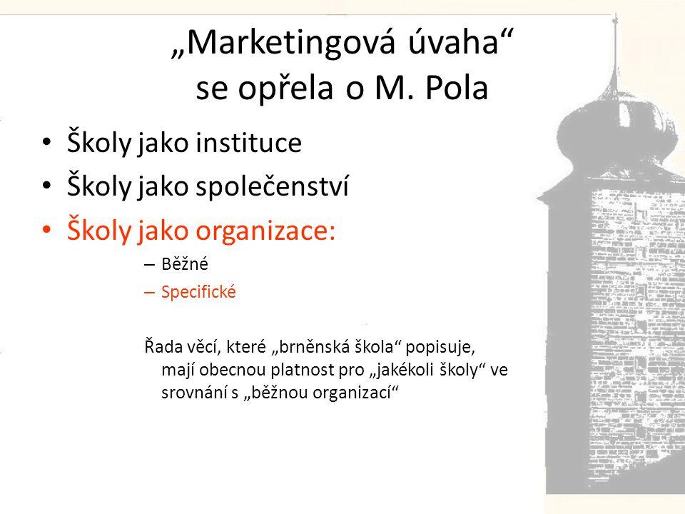 """""""Marketingová úvaha se opřela o M."""