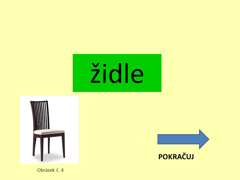 židle POKRAČUJ Obrázek č. 4