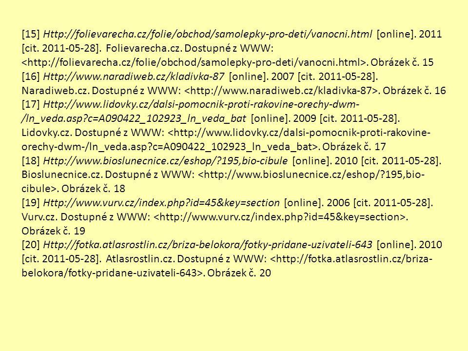 [15] Http://folievarecha.cz/folie/obchod/samolepky-pro-deti/vanocni.html [online]. 2011 [cit. 2011-05-28]. Folievarecha.cz. Dostupné z WWW:. Obrázek č