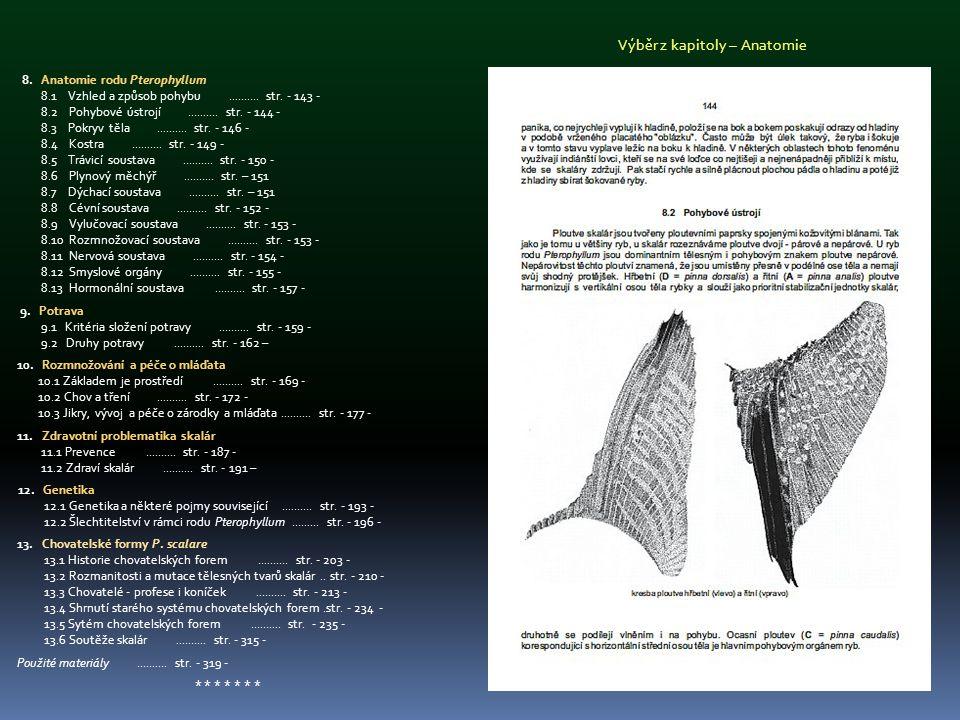 8. Anatomie rodu Pterophyllum 8.1 Vzhled a způsob pohybu.......... str. - 143 - 8.2 Pohybové ústrojí.......... str. - 144 - 8.3 Pokryv těla..........